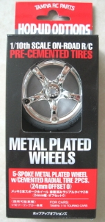 Picture of Tamiya Metal Plated Wheels 1/10 On-Road 5 Spoke
