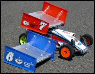 """Picture of McAllister 450 Sprint Wing 6"""" 1/10 (Unpainted)"""
