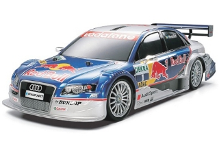 Picture of Tamiya 58355 1/10 RC Audi A4 DTM 2005 Red Bull - TT01 Finished Body