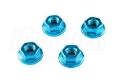 Picture of Take Off TS208B Thin Type Blue M4 F Nylock Nut (4pcs)
