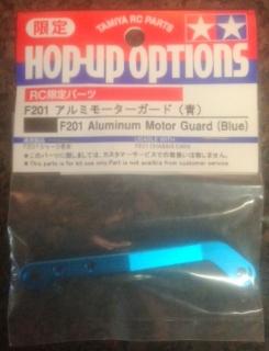 Picture of Tamiya F201 Aluminum Motor Guard (Blue) 53524
