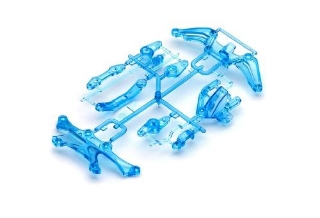 Picture of Tamiya (#49391) TA05 Up Brace F & R Clear Blue