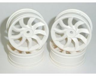 Picture of SPEEDMIND Turbine-Blade Racing Wheel 24mm White 0-offset 4 p GT 504W