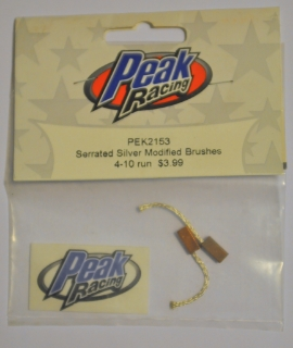 Picture of Peak Racing PEK2153 Serrated Silver Modified Brushes