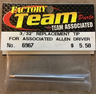 """Picture of Team Associated 6967 3/32"""" Replacement Tip for Associated Allen Driver"""