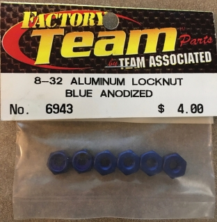 Picture of Team Associated 6943 B-32 Aluminum Locknut Blue Anodized