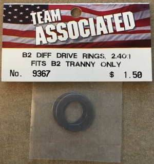 Picture of Team Associated 9367 B2 Diff Drive Rings 2.40:1 Fits B2 Tranny Only