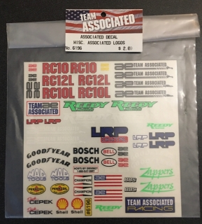 Picture of Team Associated 6196 Associated Decal Misc. Associated Logos