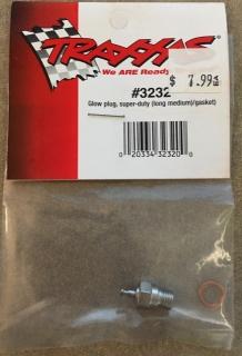 Picture of Traxxas 3232 Glow plug super-duty (long medium)/gasket)