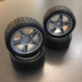 Picture of Tamiya Racing 270/30R19-937 Sedan Wheels and Tires (26mm x 68mm x 12mm) 4pc Set