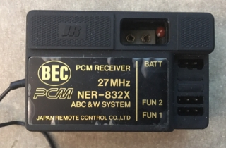 Picture of JR BEC PCM receiver 27MHz NER-832X ABC & W System