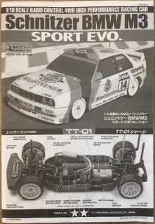 Picture of Tamiya TT-01 BMW M3 Sport EVO Kit Manual
