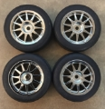 Picture of Tamiya Racing 42214-39244 M-Class 11 Spoke Chrome Wheels and Slick Tires 4pc Set