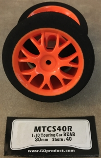 Picture of GQ Racing Tyres MTCS40R 1:10 Touring Car Rear 30mm Shore: 40 (1 pair)