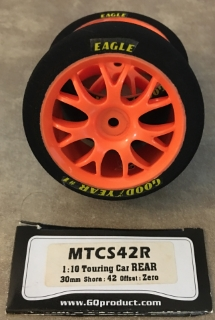 Picture of GQ Racing Tyres MTCS42R 1:10 Touring Car Rear 30mm Shore: 42 Offset: Zero (1 pair)