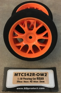 Picture of GQ Racing Tyres MTCS42R-OW2 1:10 Touring Car Rear 30mm Shore: 42 Offset: 2mm (1 pair)