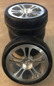 Picture of Pro Line Racing Low Profile Sedan Slick Soft Tire 1.9x1.05 with Inserts Vintage Rc 1089S3 on Aluminum 5 Spoke Wheels